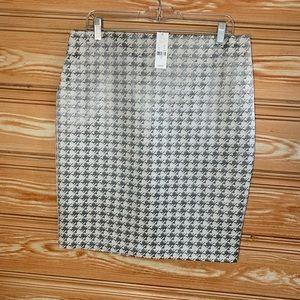 New York & Co Career Houndstooth Mini Skirt 12